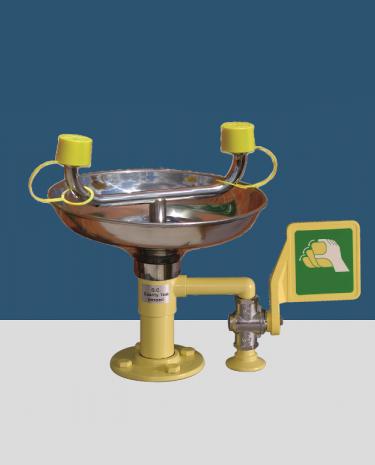 Lave yeux sur table avec vasque Inox