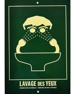 Panneau d'affichage Lave-yeux