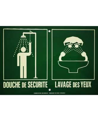 Panneau d'affichage Douche+Lave-yeux